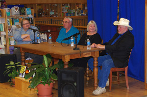 Book Signing at BookPeople, the largest independent bookstore in Texas! BookPeople's Scott Montgomery hosted the panel consisting of Martin Limón, the author of Ping Pong Heart, Billy Kring, author of TonTon: A Hunter Kincaid Mystery, and me.